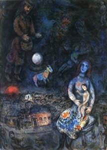 """""""La Sagrada Família"""", Marc Chagall (1975-1976). Oli sobre llenç"""